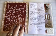 December daily - Christmas art journal - great pictures of many of the pages put together by this journal maker