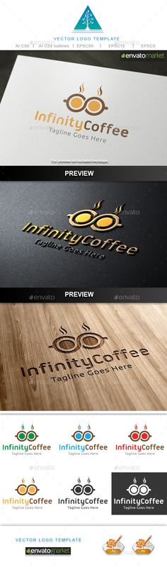 Infinity Coffee Logo — Vector EPS #business #company • Available here → https://graphicriver.net/item/infinity-coffee-logo/10482057?ref=pxcr