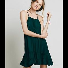 ✨NWT✨ Free People Raven Slip Gorgeous Free People slip. The color is so pretty when you see it in person. NWT. The color on the Free People site says it's forest green, but it looks more emerald green in person. This size is sold out on the Free People website. Free People Dresses