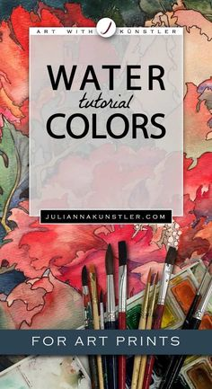 How to use watercolor paint in your coloring projects. Tips and tutorials for coloring art prints. #watercolorarts