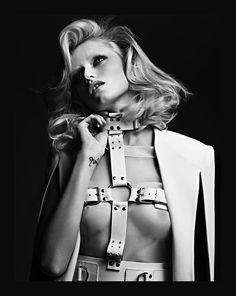 Abbey Lee Kershaw by Hedi Slimane; Vogue Russia April 2011