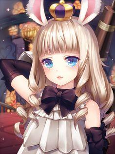 Gothic anime bunny girl