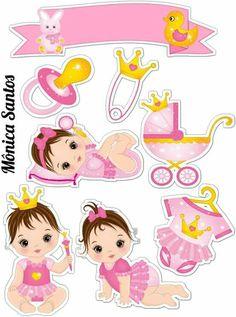 Chá de bebê Dibujos Baby Shower, Baby Shower Clipart, Baby Shower Printables, Scrapbook Quotes, Baby Scrapbook, Baby Clip Art, Baby Art, Moldes Para Baby Shower, Easy Disney Drawings