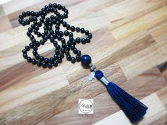 108 mala necklace tassel Mala bead necklace by Laboratorio7Bijoux