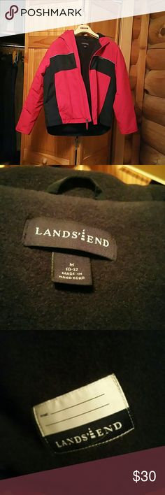 Size 10-12 Land's End Heavyweight Coat Like new, warm Lands' End Jackets & Coats