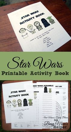 Star Wars Printable Activity Book / by One Mama's Daily Drama for Busy Mom's Helper
