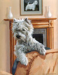 West Highland White Terrier Art Prints: Paul Doyle Mick Cawston