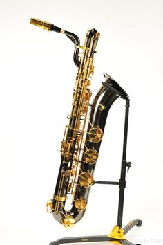Rheuben Allen® Baritone Saxophone - Black Nickel Body w/Gold Lacquer K – KDI Music
