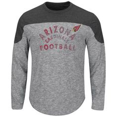 Arizona Cardinals Majestic Corner Blitz Long Sleeve T-Shirt - Gray - $39.99