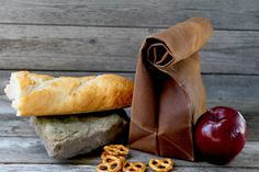 """The """"Brown"""" Bag // Caramel Brown WAXED Canvas Lunch Bag, an updated, eco-friendly classic"""