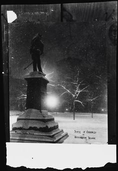 Statue of Garibaldi in Washington Square. c. 1910s - 1920s.