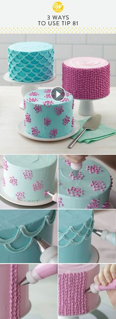 New Cake Frosting Tips Fun Ideas Frost Cupcakes, Fondant Cupcakes, Fun Cupcakes, Cupcake Cakes, Simple Cupcakes, Baking Cupcakes, Butter Cupcakes, Marshmallow Fondant, Cake Baking