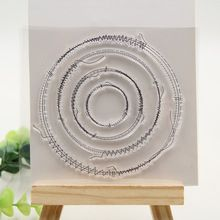 Sewing Circles Clear Silicone Rubber Stamp for DIY scrapbooking/photo album…