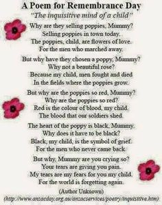 A Poem for Rememberance Day