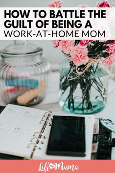 Work at home moms: Since we aren't able to show up to give 100% to our family and to our work, how should we battle the guilt we so easily feel? #momguilt #wfhm #wahm