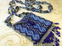 GORGEOUS Navajo Style Beaded Amulet Bag / Pouch. $180.00, via Etsy.