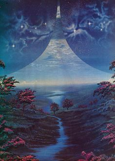 artwork for Ringworld (Larry Niven) by Steven Vincent Johnson - from Future Life magazine, 1979