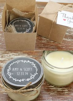 20 Festive Favours for a Winter Wedding - Candles | CHWV