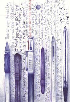 Andrea Joseph's blog, probably the most amazing ballpoint pen artist i've seen