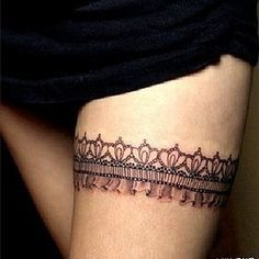 Pin Tattoos Lace Garter And Bow Tattoo On Pinterest Car Tuning