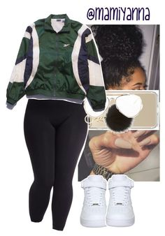 """""""Facts~H.E.R """" by mamiyanna ❤ liked on Polyvore featuring Speck, MICHAEL Michael Kors, CÉLINE, Reebok, NIKE and plus size clothing"""