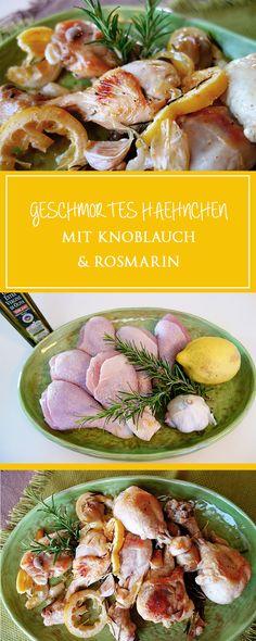 Geschmortes Hähnchen mit Knoblauch und Rosmarin - meine neue Lieblings-Hauptspeise: ein einfaches & unwiderstehlich aromatisches Rezept mit wenigen Zutaten, das in nur 40 Minuten fertig ist!    cucina-con-amore.de                                                                                                                                                                                 Mehr