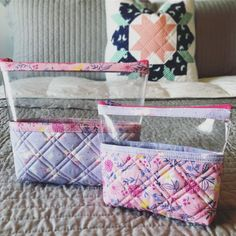 My needs some minifig and hatchimal storage and that finally gave me an excuse to use some Once Upon a Time fabric by Stacy lest Hsu! Diy Clear Pouches, Small Craft Rooms, Quilted Tote Bags, Pouch Pattern, Fabric Gifts, Bag Patterns To Sew, Zipper Bags, Sewing Clothes, Purses And Bags