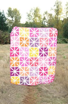 This unique star quilts can be a very inspirational and ideal idea Modern Quilt Patterns, Pdf Patterns, Quilting Patterns, Girls Quilts, Baby Quilts, History Of Quilting, Quilting For Beginners, Beginner Quilting, Quilting Tips