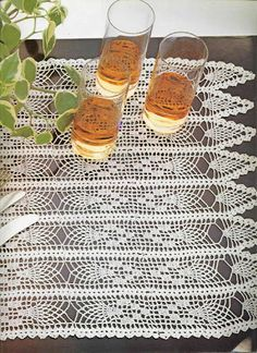 crochet tablerunner - Mile-a-minute centerpiece with diagram