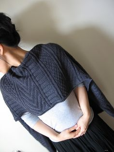 Another Jared Flood winner! He KNOWS how to design knitwear!! I LOVE this wrap - love it, LOVE IT!!