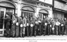 Hungry work, this war! The Pioneer Corps, stationed at Deal. East Sussex, Ww2, Green