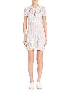 Theory Nenalo Iras Knit Dress - White Mix - Size L
