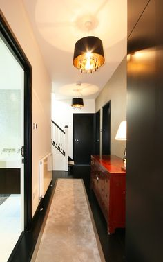 #Hallway Modern Stairs, Hallways, Entrance, Entryway, Kitchen Cabinets, Home Decor, Runners, Kitchen Cupboards, Homemade Home Decor