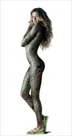 40 Awesome Full Body Tattoos for Women 7 Body Tattoo Design, Full Body Tattoo, Body Tattoos, Girl Tattoos, Tattoos For Women, Tattoo Designs, Celtic Patterns, Gisele Bundchen, Future Tattoos