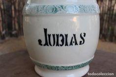 ANTIGUO BOTE DE JUDIAS DE MANISES