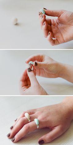 Cómo hacer un anillo personalizado muy fácil y rápido  #diy #handmade