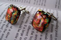 fused dichroic glass cuff links     See amazing videos, news, tips, trends & analysis along with fashion items in mens cufflinks and lots more. See more @Gail Regan Truax://successfollow.com