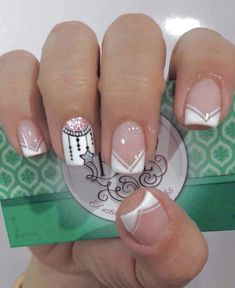 Manicure inspiration with cute decorations 017 Fabulous Nails, Perfect Nails, Gorgeous Nails, Love Nails, Pretty Nails, Nagellack Design, Cute Nail Art, French Nails, Nail Manicure