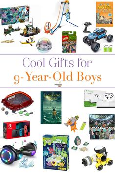 The best gifts for 9 year old boys that they'll love! The best gifts for 9 year old boys that they'll love! Cool Gifts For Kids, Crafts For Boys, Kids Gifts, 9 Year Old Christmas Gifts, Christmas Fun, Birthday Gifts For Boys, Boy Birthday, Fun Christmas Activities, 12 Year Old Boy