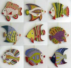 Handmade Ceramic Fish Decorative wall hanging by ceramicsartdaniel click the image or link for more info. Ceramics Projects, Clay Projects, Clay Crafts, Arts And Crafts, Ceramics Ideas, Kids Crafts, Ceramic Animals, Clay Animals, Ceramic Clay