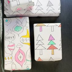 Wrap gifts in this printable wrapping paper for you and your kids to color in