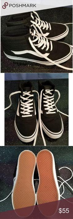 Classic Vans Sk8-Hi Top Sneakers Black Only worn once, size 6 Vans Vans Shoes Sneakers