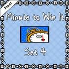 Freebie! Fourth set of 3 Minute to Win It activities in colorful PowerPoint Great for reward incentive! Challenges: Hangnails, Keep it Up, and Breakfast Scramble