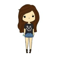 Chibis ❤ liked on Polyvore featuring fillers, chibis, anime, drawings, other, doodle, backgrounds and scribble