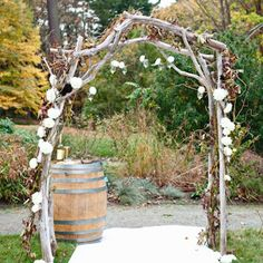 rustic ceremony | Rustic Ceremony Huppah | When I Say I Do: Ceremony