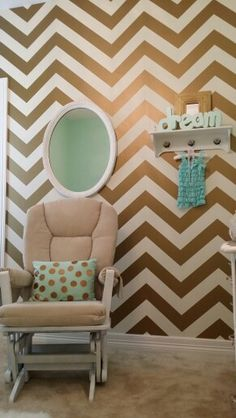 My favorite thing, the chevron wall.