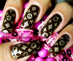 Items similar to FUN 2 Image Plate on Etsy – louis vuitton nails acrylic Short Nail Manicure, Manicure And Pedicure, Wedding Manicure, Manicure Ideas, Gel Nail, Short Nails, Manicures, Nail Ideas, Cute Nails