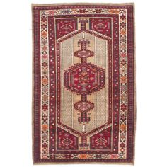 Love this rug  Ecarpetgallery Hand-knotted Persian Ardabil Beige Red Wool Rug (3'3 x 5'6)