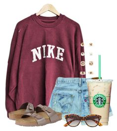 """Nike, just do it"" by flroasburn ❤ liked on Polyvore featuring NIKE, Forever 21, H&M and Birkenstock"