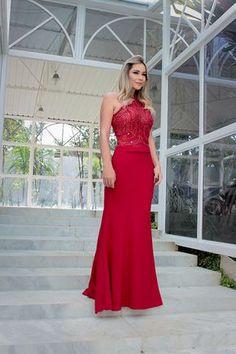 vestido de festa longo madrinha ou formanda